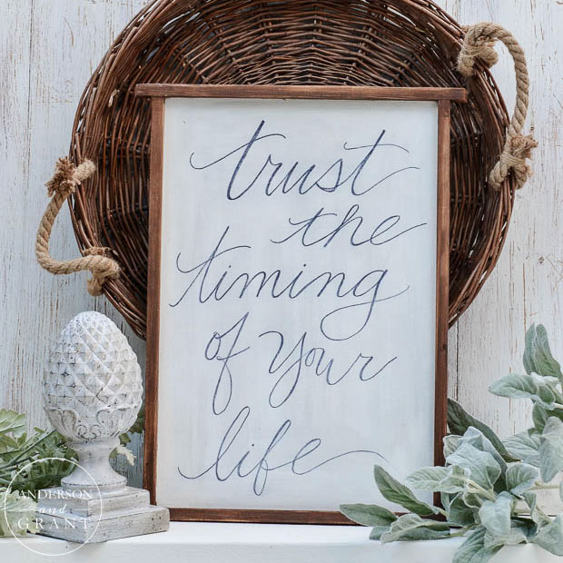 Create a piece of inspirational DIY art for the wall using your favorite handwritten quote.  |  www.andersonandgrant.com