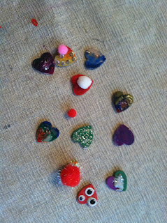 Happy Heart Buttons Valentines day tutorial