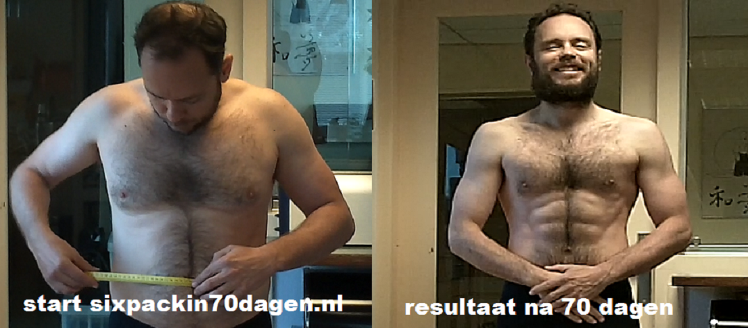 six pack in 70 dagen