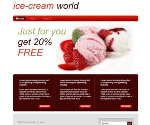 Ice Cream World Blogger Template