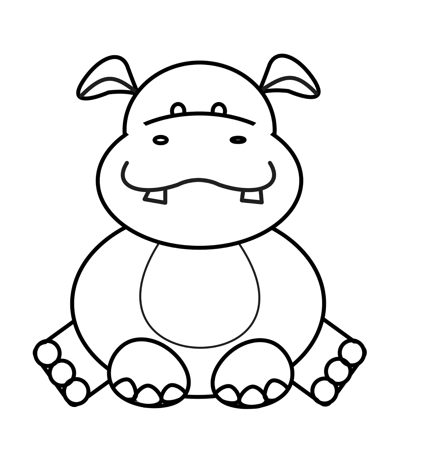 Drawing Hippopotamus Pictures To Pin On Pinterest