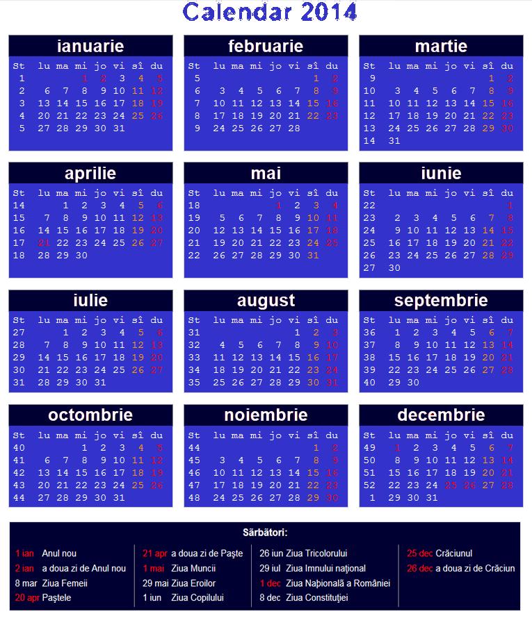 Calendar Românesc 2014 - 5