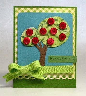 Thiệp sinh nhật Handmade Từ nút Áo
