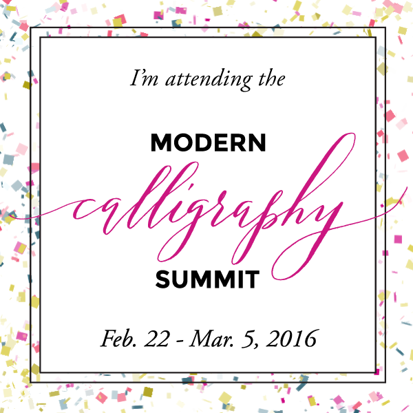 I'm attending the Calligraphy Summit