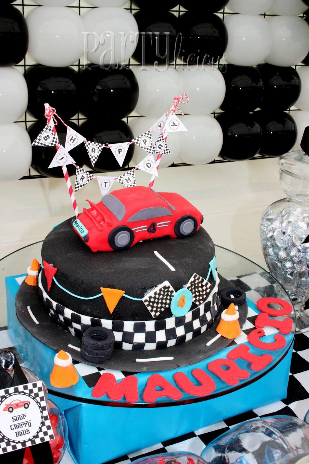 Rob Race Car Birthday Cake