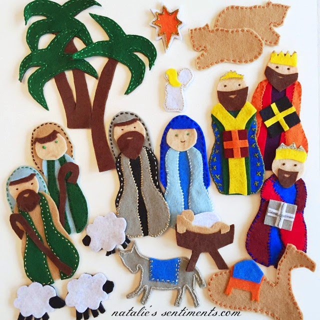 I Was Looking At Pinterest Months Ago Saw A Great Nativity Thought Could Do That What Nice Handmade Gift For My Babies