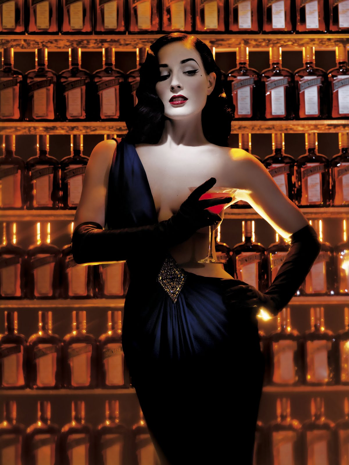 Dita Von Teese and the Cointreau Teese. © Cointreau Corp.