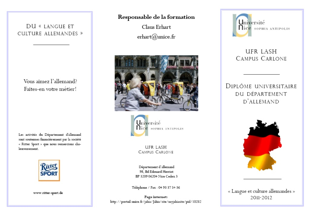 Blumenzumselberpfl cken dipl me universitaire allemand - Office allemand d echanges universitaires ...