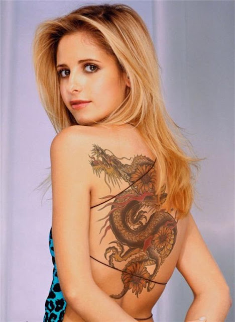 Women Dragon Body Tattoos