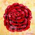 Lukisan Bunga Mawar Merah MB-062