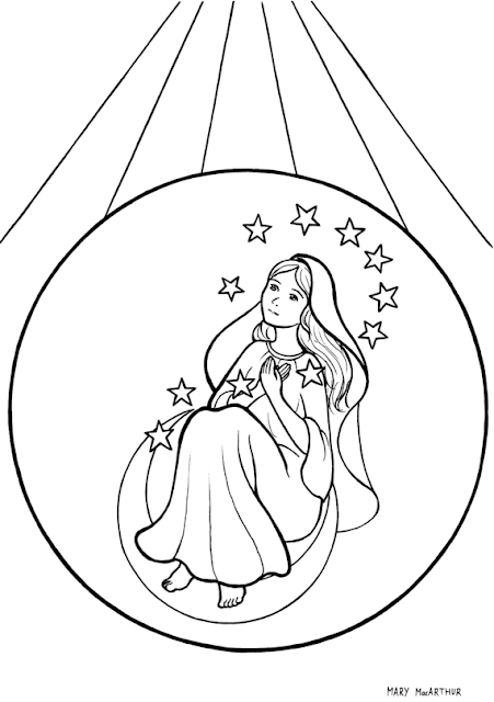 Immaculate Conception coloring page title=