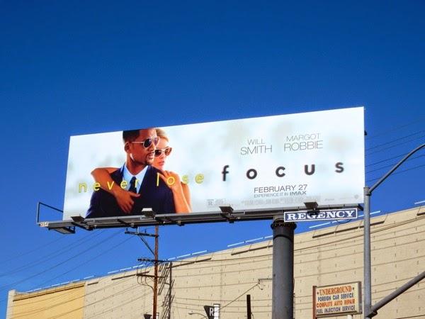 Focus movie billboard