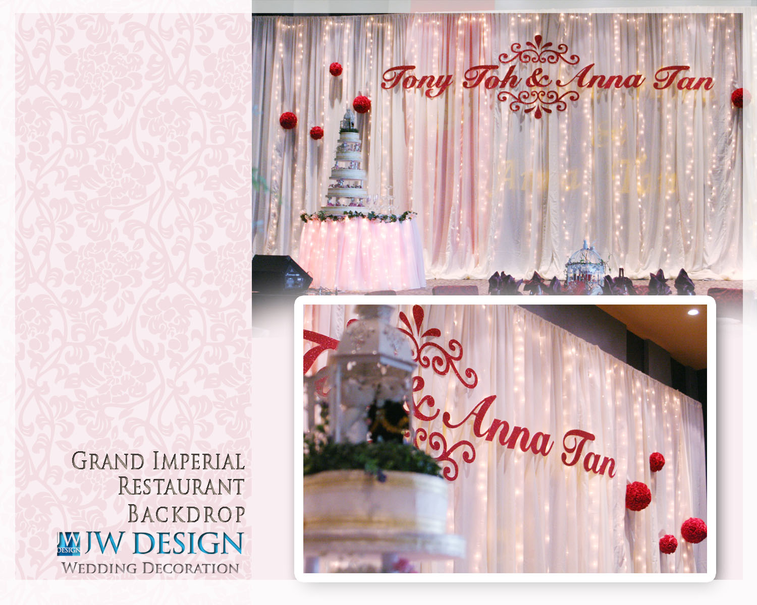 Jw design wedding decoration november 2011 grand imperial restaurant klang posted by jw design wedding decoration junglespirit Gallery