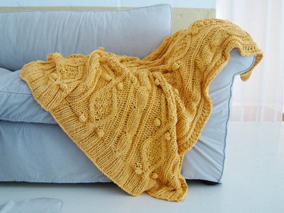 Etsy Knit Throw