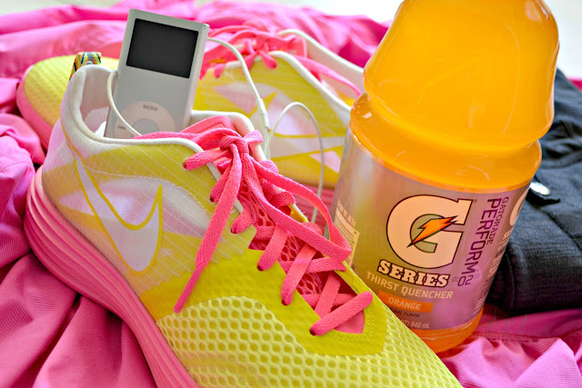 Running with Gatorade for hydration #cbias