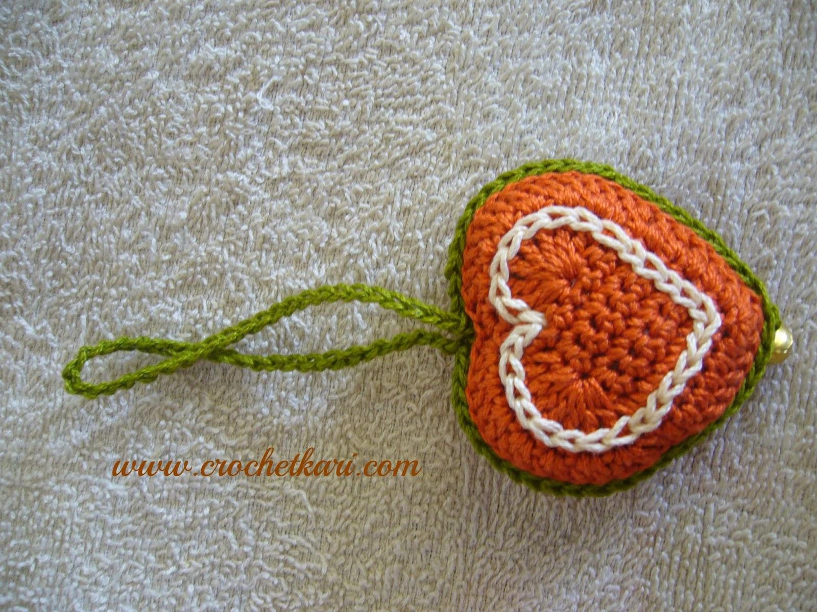 crochet heart charms