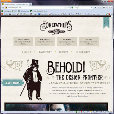 Screen shot of http://forefathersgroup.com/.