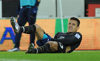 Arsenal's Alexis Sanchez to miss Aston Villa game