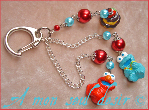Bijou Rue Sesame Elmo Macaron le Glouton Sesame Street Cookie Monster