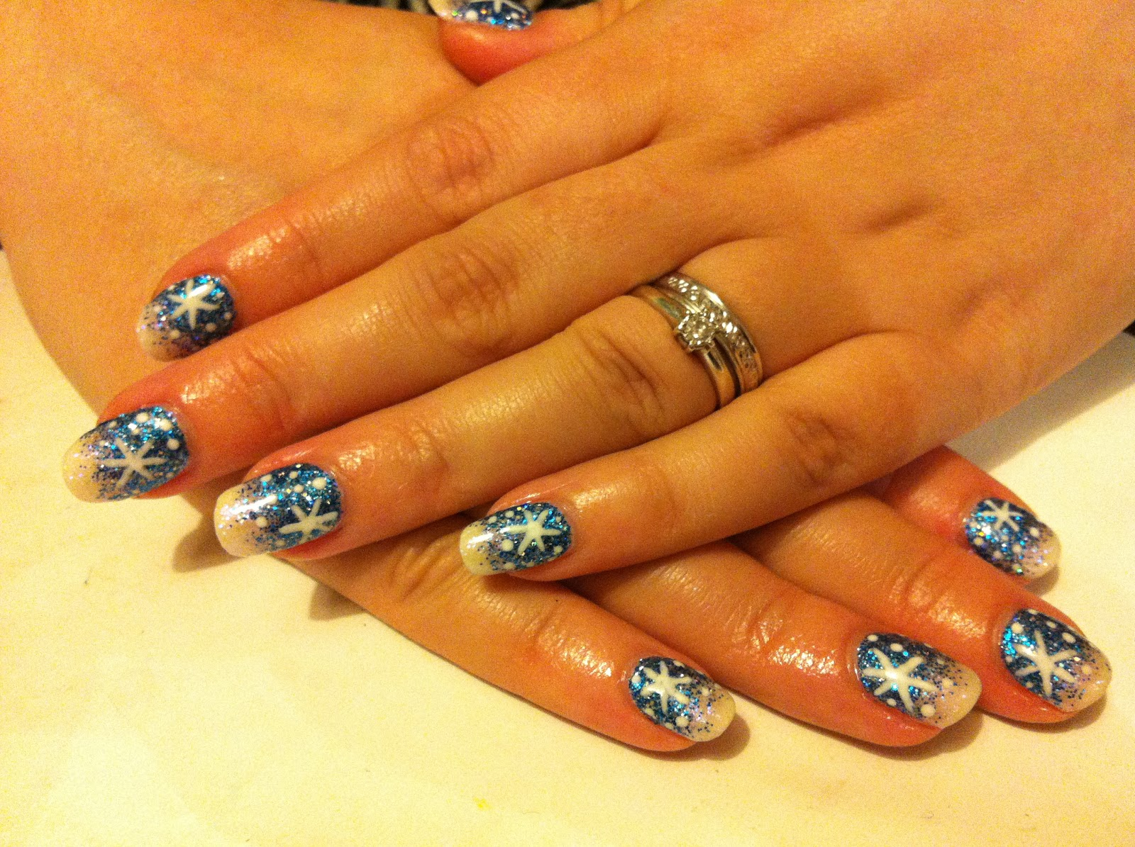 Brush up and polish up cnd shellac christmas nail art 3 blue cnd shellac christmas nail art 3 blue glitter fade snowflakes prinsesfo Image collections
