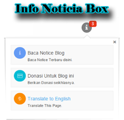 Info Noticia box para Blogger
