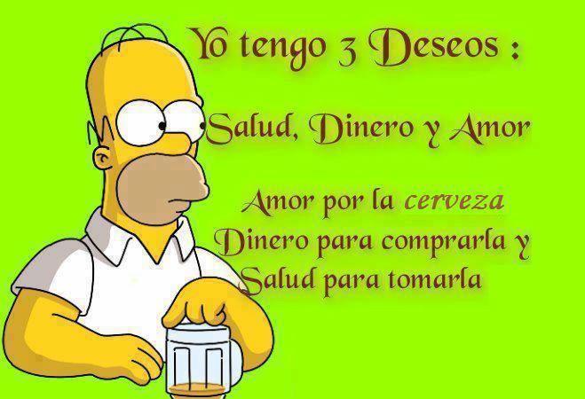 Los 3 Deseos de Homer Simpson - Imagenes en Facebook