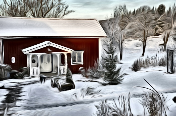 Vinter i Björke