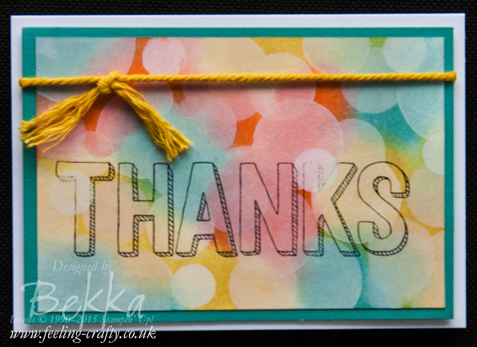 Bokeh Thanks Card - Check Out this great blog for lots of ideas and shopping
