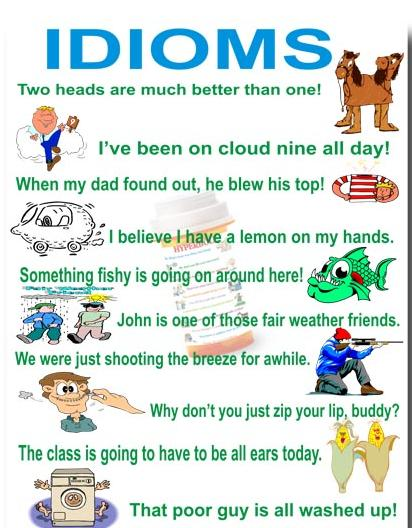 Common Idioms Idioms And Proverbs