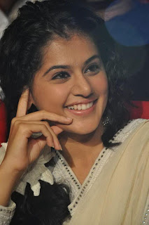 Tapsee Panu in a Simple White Churidar Cute Tapsee Without Makeup