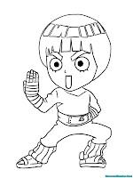 Mewarnai Gambar Rock Lee Naruto Shippuden