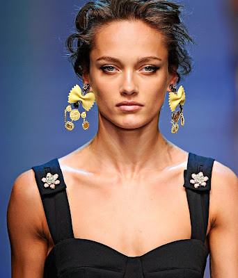 Dolce&Gabbana, pasta earrings, diy, fashion diy