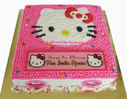 Cake Hello Kitty Aisha Puchong Jaya