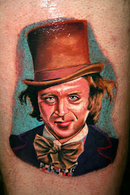 Willy Wonka Tatuagem Rosto