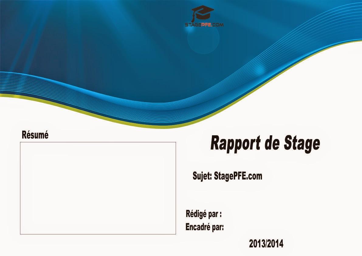 exemples ou de modèles de PAGE DE GARDE pour votre Rapport de ...