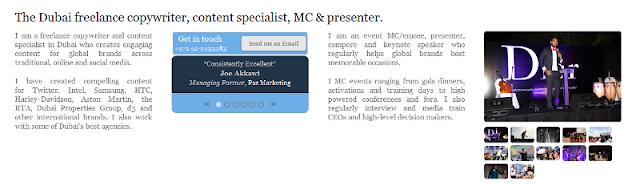 highly-regarded copywriter and MC in Dubai