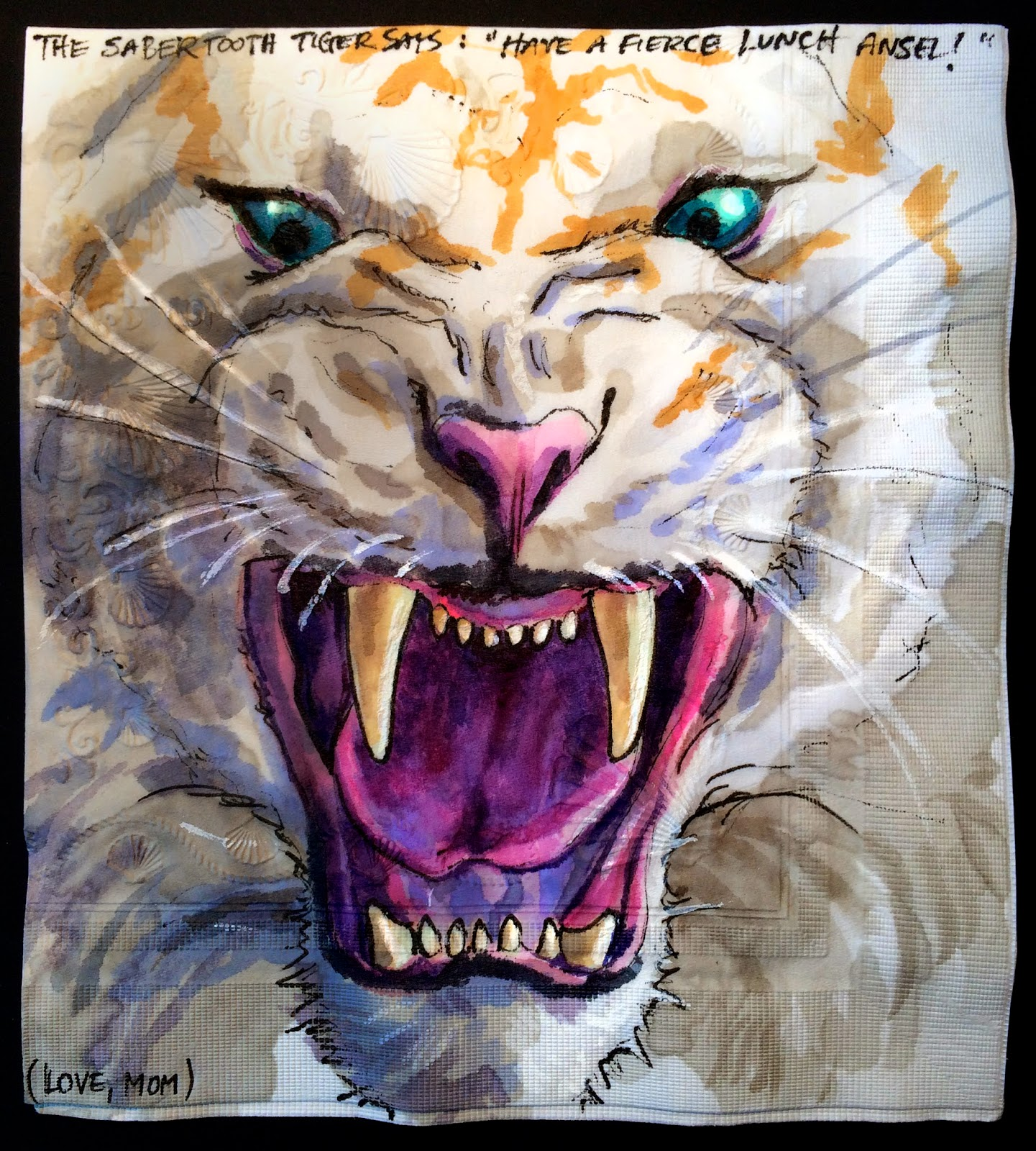 Monster Tiger Drawing in Saber Tooth Tigers