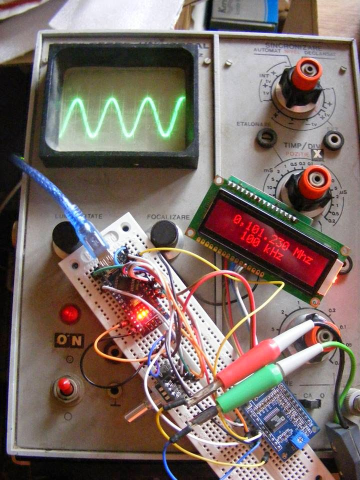 Arduino tehniq signal generator with ad and