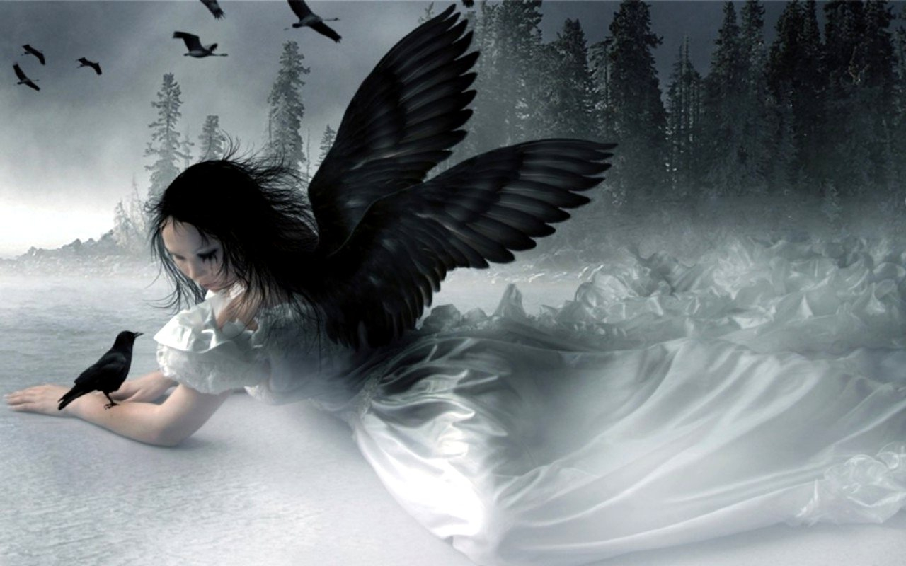 Angel stories when angels appear in your dreams - Gothic angel wallpaper ...