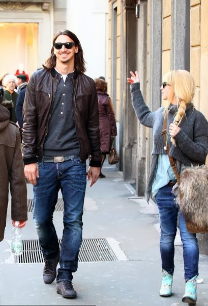 Zlatan Ibrahimovic With Wife