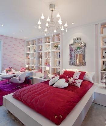 Suite para ni a en rosa y blanco dormitorios fotos de for Dormitorio nina blanco