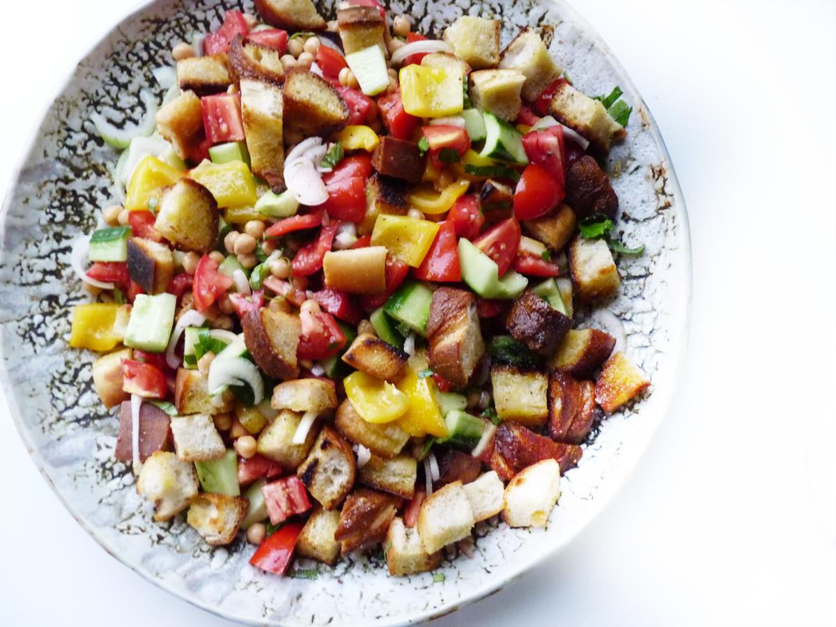 Panzanella Salad Italian Recipe