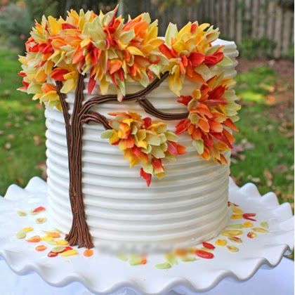 Autumn Leaves in Chocolate