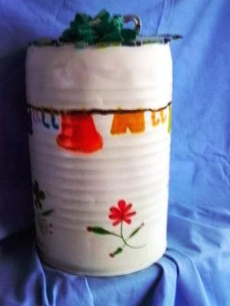 Reciclar en la casa cesto para guardar la ropa sucia - Cubos para la ropa sucia ...
