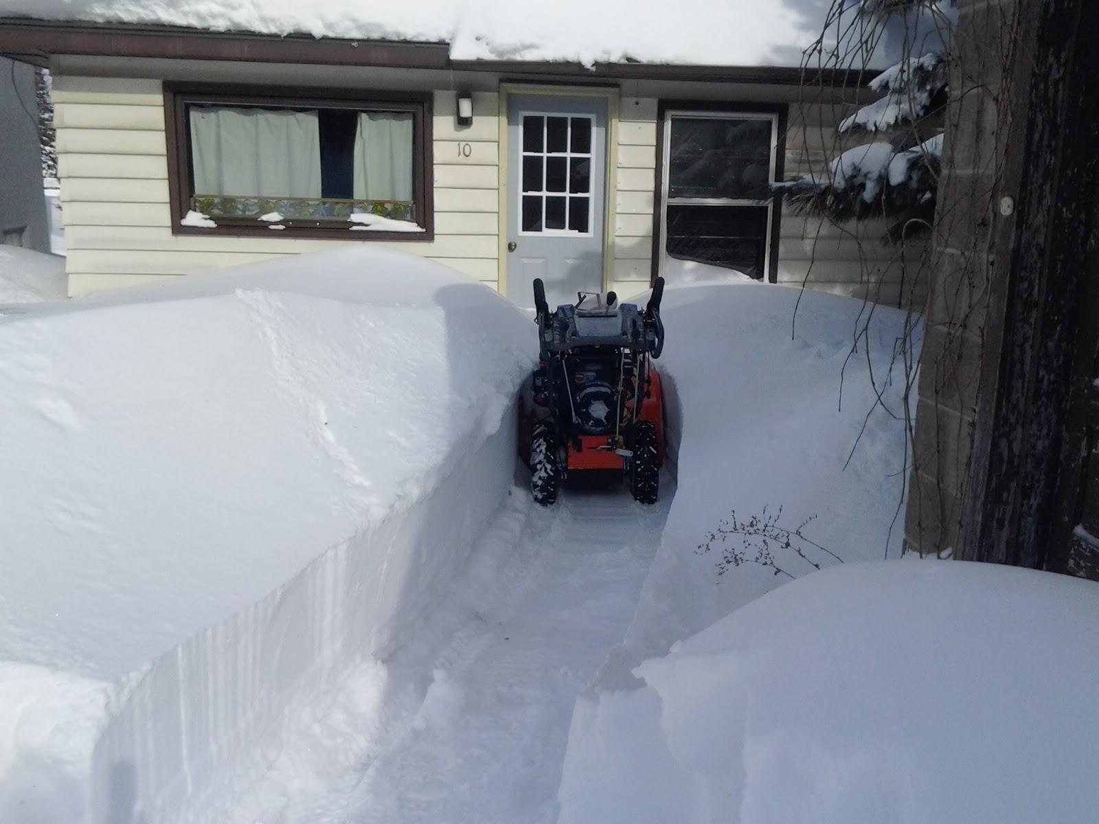 2/21/14 snowstorm, ely minnesota, john huisman