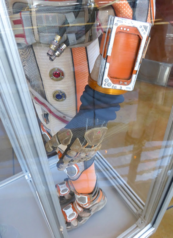 The Martian astronaut costume detail
