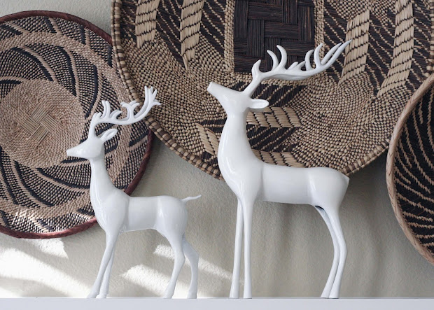 white deer christmas decorations