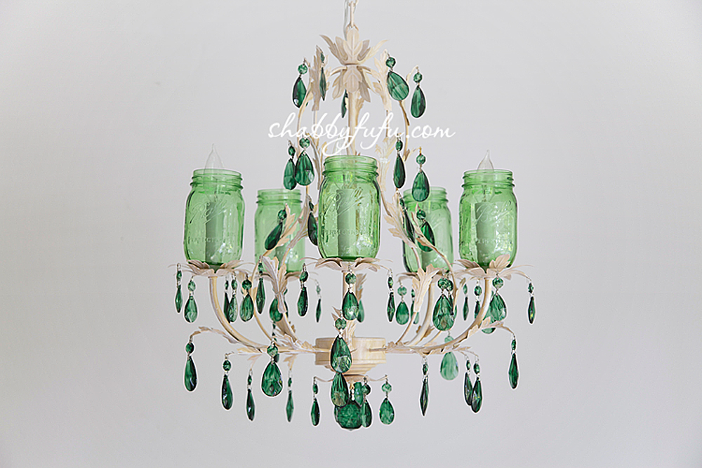 How to make a farmhouse mason jar chandelier shabbyfufu this aloadofball Choice Image