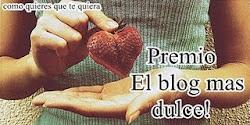 PREMIO EL BLOG MÁS DULCE!