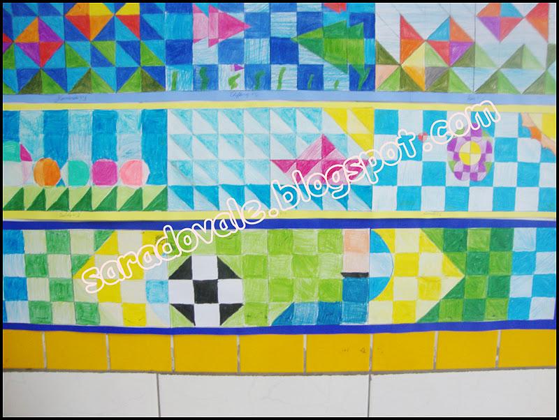 Sara do vale desenho em papel quadriculado - Friso de papel ...